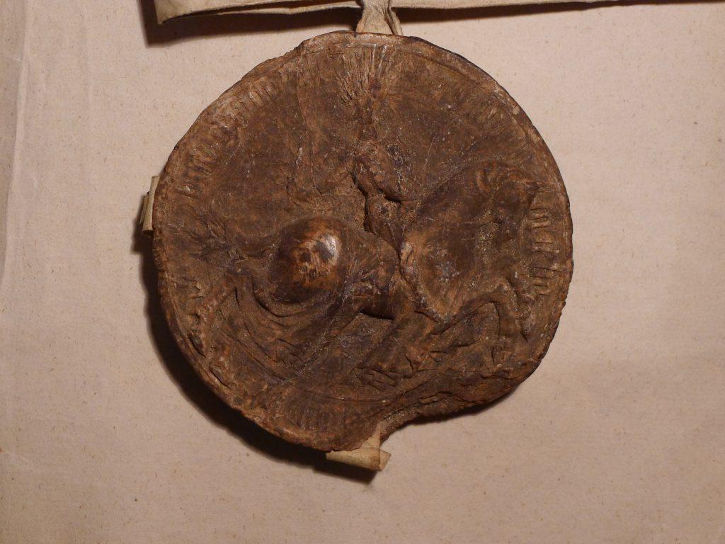 Reitersiegel Markgraf Sigismunds - Vorderseite